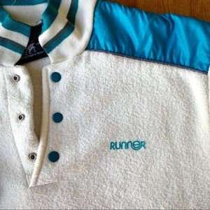 VINTAGE 'RUNNER' Short-Sleeve Sporty Top